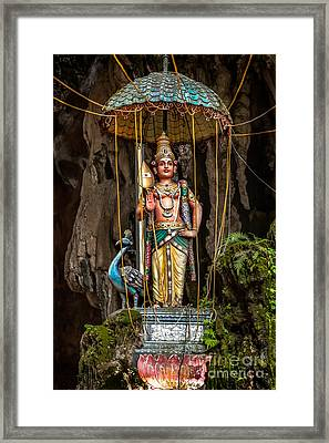 Lord Murugan Statue Framed Print by Adrian Evans