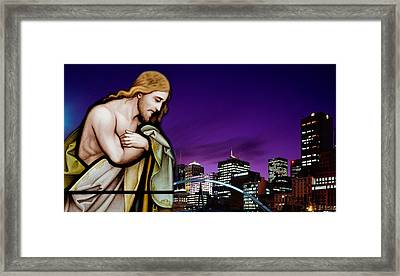 Framed Print featuring the digital art Lord Of All by Karen Showell