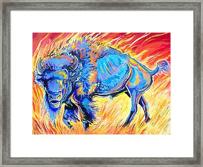 Framed Print featuring the painting Lord Of The Prairie by Jenn Cunningham
