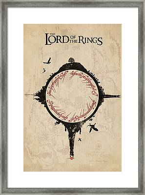 Lord Of The Rings Framed Print by FHT Designs