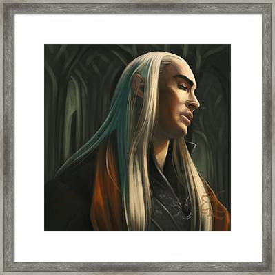 Lord Of The Woodland Realm Framed Print by Lydia Kinsey