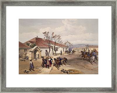 Lord Raglans Head Quarters At Khutur Framed Print by William 'Crimea' Simpson