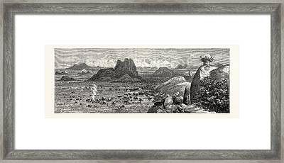 Lord Randolph Churchill In South Africa A Sketch Framed Print by South African School