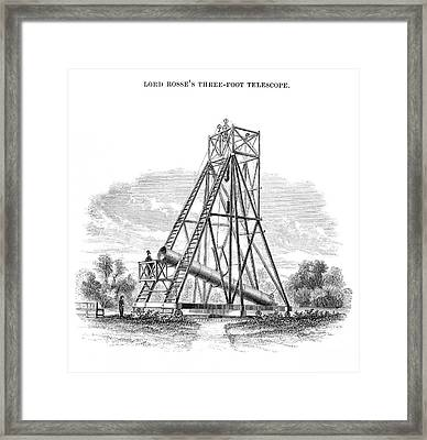 Lord Rosse's 3-foot Telescope Framed Print
