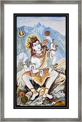 Lord Siva-the Creator Framed Print by Anand Swaroop Manchiraju
