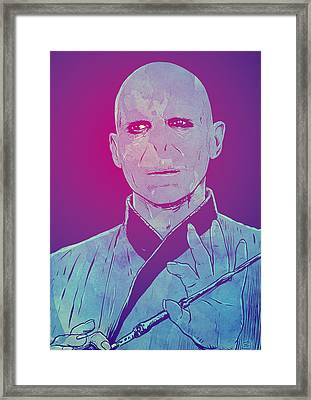 Lord Voldemort Framed Print by Giuseppe Cristiano