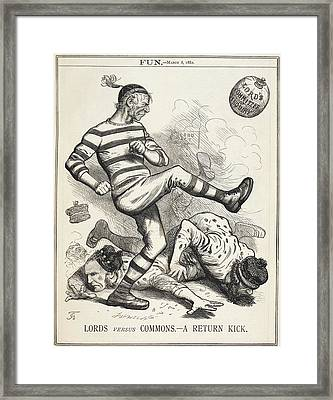 Lords Versus Commons Framed Print