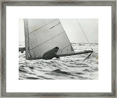Lore Round-the-world Yachtsman Is Home Framed Print by Retro Images Archive