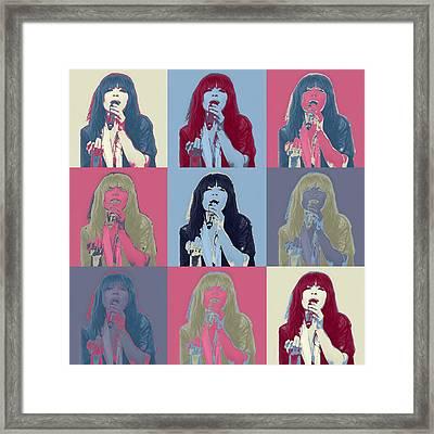 Loreen In Pop Art Framed Print by Tommytechno Sweden