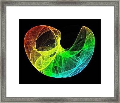 Lorenz Attractor Framed Print by Alfred Pasieka