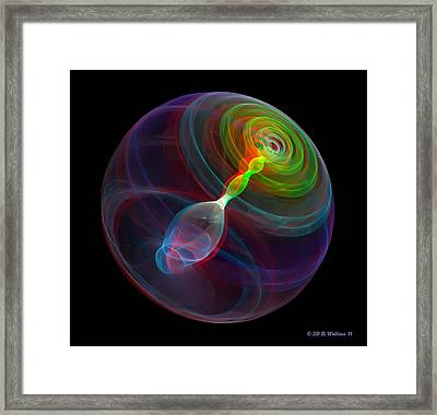 Lorenz Sphere - Use Red/cyan Filtered 3d Glasses Framed Print by Brian Wallace