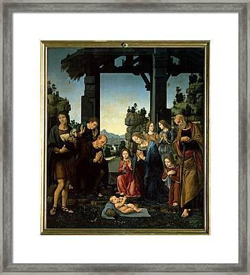 Lorenzo Di Credi, The Adoration Framed Print by Everett