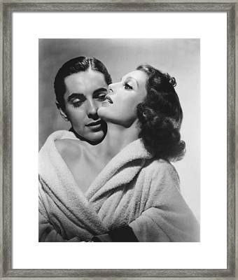 Loretta Young And Tyrone Power Framed Print