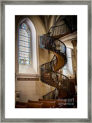 Loretto Chapel Staircase Framed Print by Jim McCain