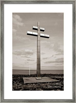 Lorraine Cross In Normandy Framed Print by Olivier Le Queinec