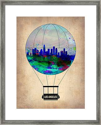 Los Angeles Air Balloon Framed Print