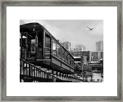 Los Angeles Angels Flight.bw Framed Print