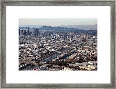Los Angeles Bridges Aerial Framed Print by Kevin  Break