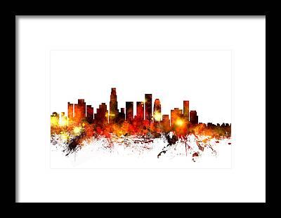 Los Angeles Skyline Framed Prints