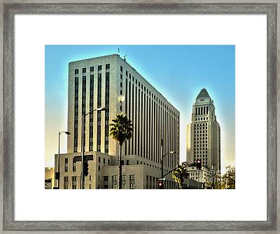 Los Angeles City Hall Framed Print by Gregory Dyer