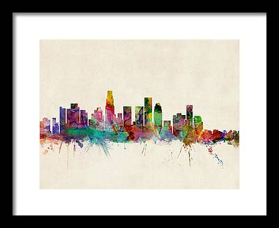 Los Angeles Skyline Framed Prints