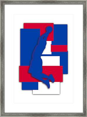 Los Angeles Clippers Art Framed Print