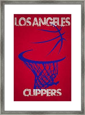 Los Angeles Clippers Hoop Framed Print by Joe Hamilton