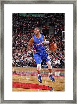 Los Angeles Clippers V Portland Trail Framed Print by Sam Forencich