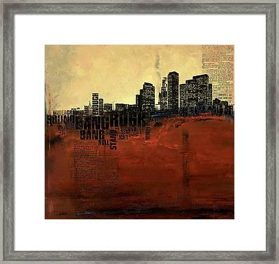 Los Angeles Collage 3 Framed Print