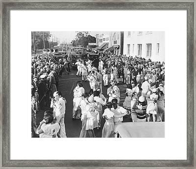 Los Angeles Dance Marathon Framed Print by Underwood Archives