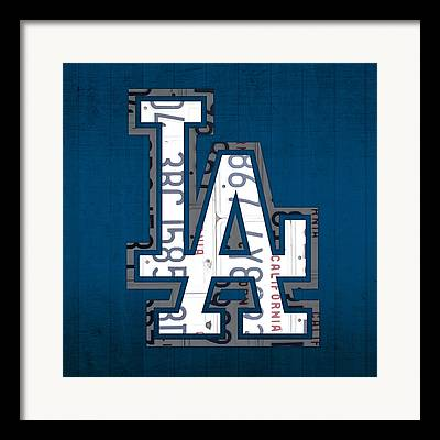 Los Angeles Dodgers Mixed Media Framed Prints