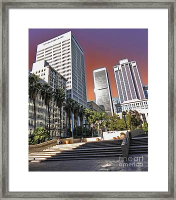 Los Angeles Historic Center Framed Print by Gregory Dyer