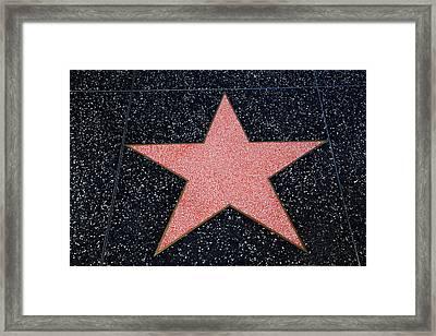 Los Angeles, Hollywood, Blank Star Framed Print by David Wall