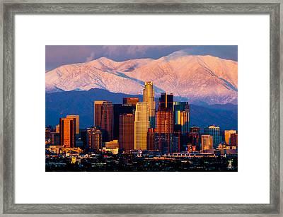 Los Angeles In Winter Framed Print
