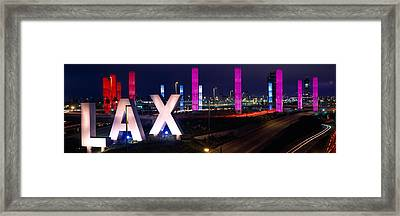 Los Angeles Intl Airport Los Angeles Ca Framed Print by Panoramic Images