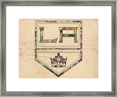 Los Angeles Kings Vintage Art Framed Print