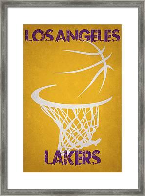 Los Angeles Lakers Hoop Framed Print