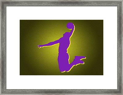 Los Angeles Lakers Kobe Bryant2 Framed Print by Joe Hamilton