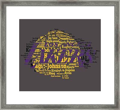 Los Angeles Lakers Word Cloud Framed Print