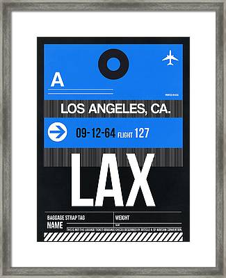 Los Angeles Luggage Poster 3 Framed Print by Naxart Studio