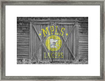 Los Angeles Milwaukee Lakers Framed Print by Joe Hamilton