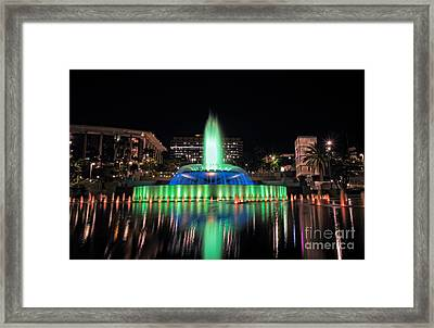 Los Angeles Night Life Framed Print by Charline Xia