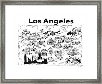 Los Angeles' Points If Interest Framed Print