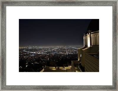 Los Angeles Skyline From Griffith Observatory Framed Print by David Lobos