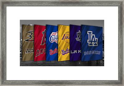 Los Angeles Sports Teams Framed Print by Joe Hamilton