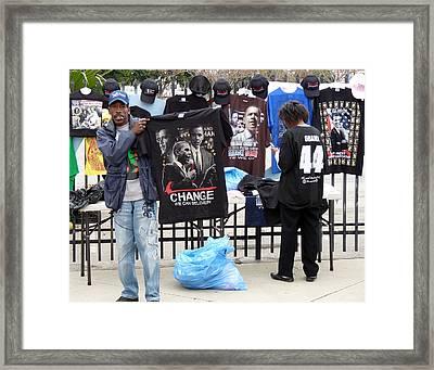 Los Angeles Street Scene Framed Print by Jeff Lowe