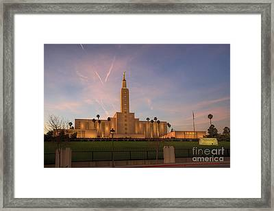 Los Angeles Temple Framed Print