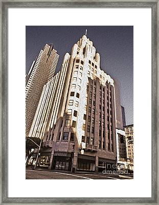 Los Angeles  - Title Guarantee Building Framed Print by Gregory Dyer