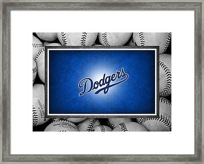 Los Angles Dodgers Framed Print by Joe Hamilton