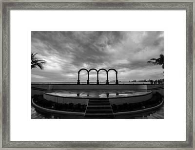 Los Arcos After Rain Framed Print